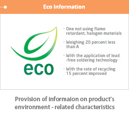 Eco Information, Provision of information on products' environment-related characteristics